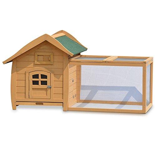 zooprinz Outdoor Hasenstall Langohr im Landhausstil wetterfestes Nagerhaus für Kleintiere: Hasen, Kaninchen, Zwergkaninchen, Meerschweinchen, Frettchen