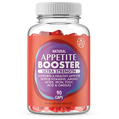 Appetite Booster Weight Gain Stimulant Pills Extra Strength Underweight Adults Fortified with Lysine, Thiamine, Vitamins B2,B6,B12, Pantothenic Acid, Iron