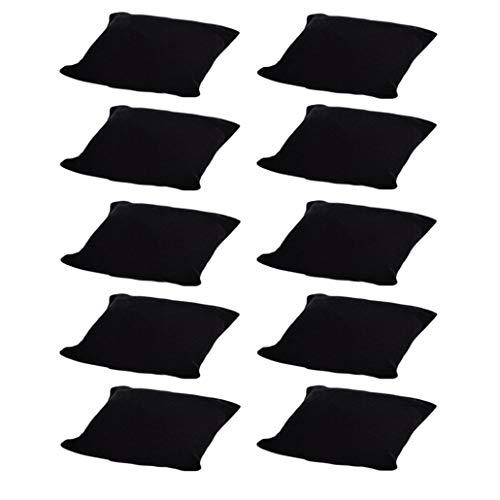 Colorsheng 10-Pieces Velvet Small Bracelet/Watch Pillow Jewelry Displays (Black)