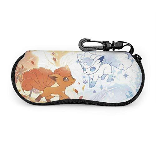 Vulpix Eis- und Tannenbrillenetui, tragbares Reise-Reißverschluss-Sonnenbrillenetui Brillentasche Guard Set
