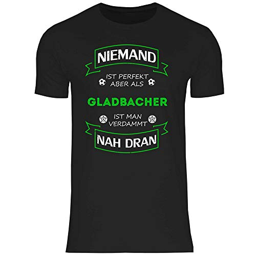 wowshirt Herren T-Shirt Fußball Trikot Gladbacher Mönchengladbach, Größe:M, Farbe:Black