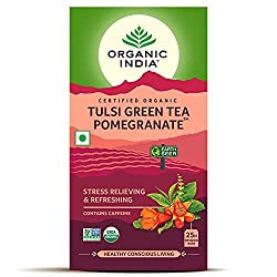 Organic India Green Tea Pomegranate