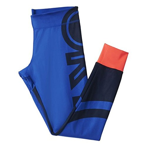adidas StellaSport - SC Tights Logo Mujer Blue Taille Large 86% poliéster y 14% Elastano.