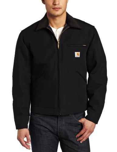 Carhartt Men's Weathered Duck Detroit Jacket J001,Black,X-Large