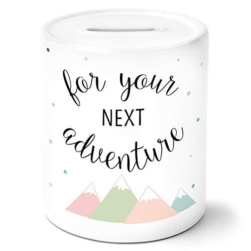 OWLBOOK for Your Next Adventure mit Berge Spardose Geschenke Geschenkideen für Kinder Jungs und Mädchen zum Geburtstag