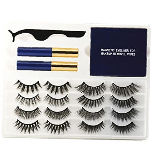 Productos de Belleza asequibles Magnéticos Pestañas Falsas Pestañas Conjunto De Retorno con Pinzas De Ojos Líquido Wet Wipes Style1