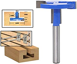 Transer T Slot Router Bit, 1/4-Inches Shank Straight T-Track Cutter Carbide Wood Slatwall Groove Forming Milling Cutter Woodworking Drill Tool