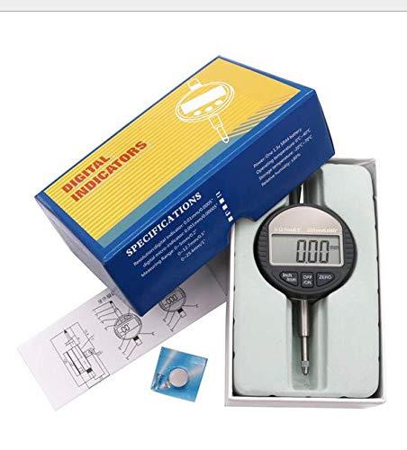 Dial Indicator Gauge, 0-12.7mm/0.5 Dial Test Gauge Electronic Indicator Gauge DTI 0.01mm/0.0005 Gauge Dial Test Indicator, Digital Dial Indicator