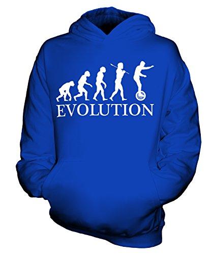 Candymix Einrad Evolution des Menschen Unisex Kinder Jungen/Mädchen Kapuzenpullover, Größe 7-8 Jahre, Farbe Königsblau
