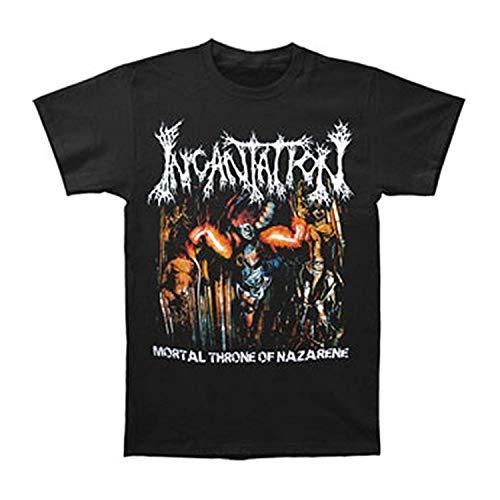 Incantation Mortal Throne of Nazarene T Shirt Summer Printed Short Sleeve T Shirts Fashion