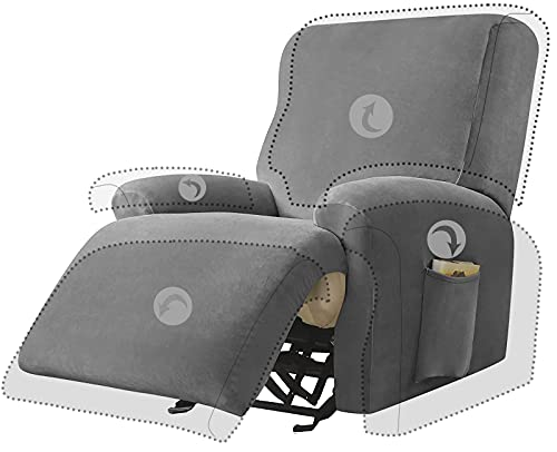 FORCHEER Sesselschoner Sesselüberwurf Sesselhusse Sesselbezug Jacquard Elastisch Stretch Husse für Cafe Stuhl Sessel