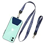 SHANSHUI Cell Phone Lanyard, Universal Phone Neck Strap Wirst Lasso Leash for Smartphone Safety Tether System - Blue