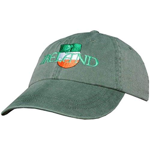Celtic Clothing Company Irish Baseball Cap, Irish Shield Logo, Includes Irish Shamrock, Green