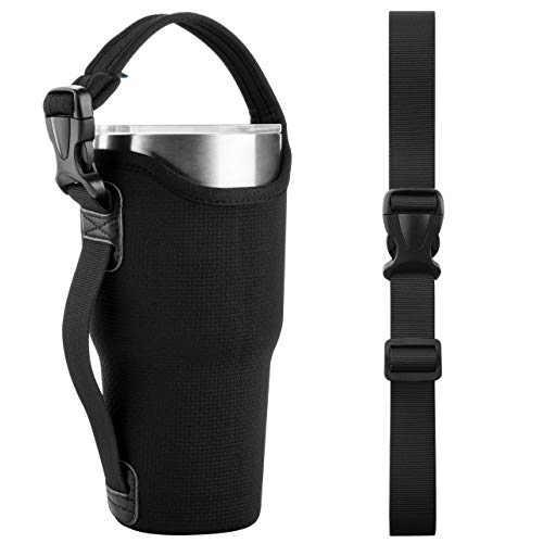 Beautyflier 30 OZ Neoprene 3IN1 Tumbler Carrier Holder Pouch with Adjustable Shoulder Sling for Stainless Steel Insulate Insulated Coffee Mugs