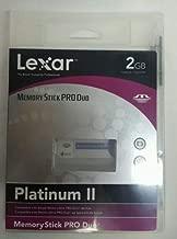 LEXAR Lexar Platinum II 2GB Memory Stick PRO Duo Card w/MS PRO Adapter - LXRMS2GB
