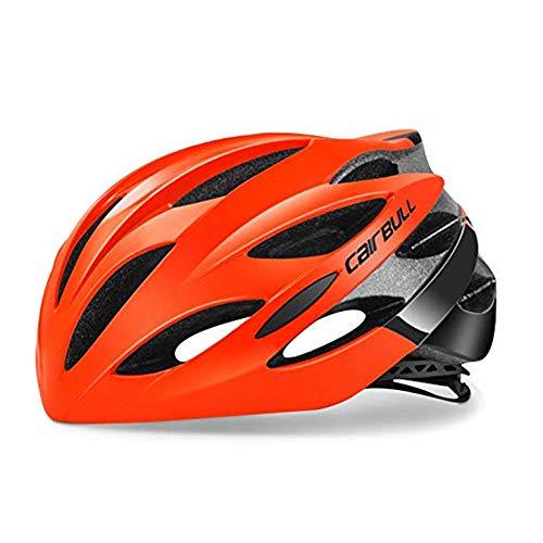 Heemtle Ultraleicht 25 Vents Fahrradhelm EPS + PC Abdeckung MTB Rennrad Helm Integral Schimmel (Orange M: 54-58cm)