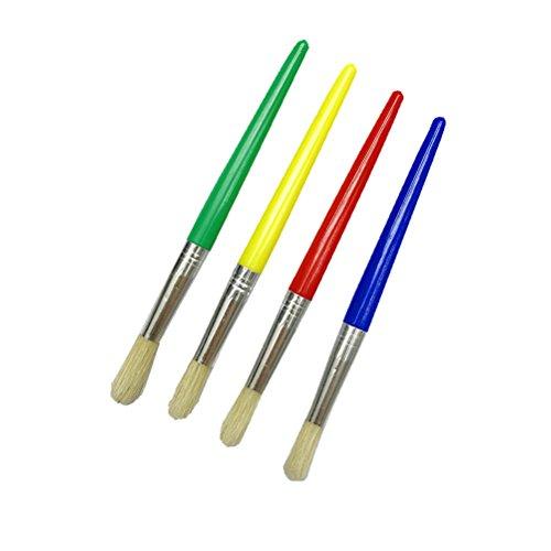 Rosenice - Juego de pinceles infantiles para pintar para principiantes (4 unidades)