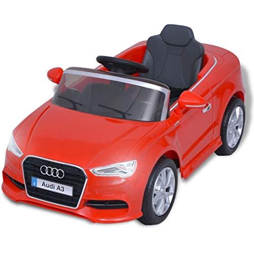 Festnight- Auto Elettrica per Bambini/Automobile Elettrica con Telecomando Audi A3 Rossa