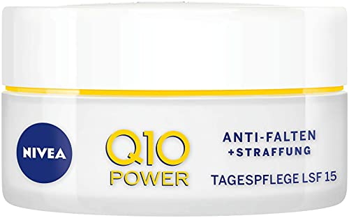 NIVEA Q10 Power - Crema de día antiarrugas y reafirmante para una piel más lisa y joven, crema de día con SPF 15, 2 unidades (2 x 50 ml)