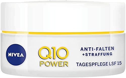 NIVEA Q10 Power Anti-Falten + Straffung Tagespflege für glattere & jünger aussehende Haut,...