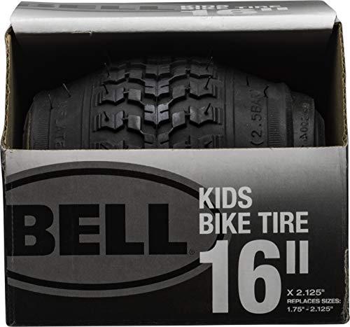 Bell 7091031 Kids Bike Tire, 16' x 1.75-2.25', Black