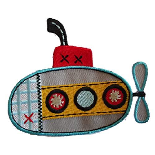 2 Ronde Naai-on Badge/Opstrijkbare Patchonderzeeër 10x8 cm Jeans Star Appliqué 7x7 cm Reparatieset voor Kinderkleding - TrickyBoo Zürich Zwitserland Voor Duitsland en Oostenrijk