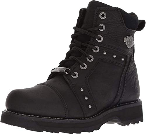 HARLEY-DAVIDSON FOOTWEAR Women's Oakleigh Motorcycle Boot, Black, 09.5 Medium US