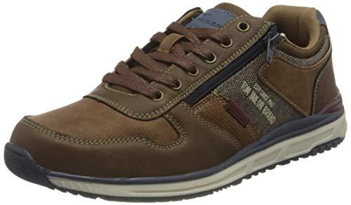 TOM TAILOR Herren 3282702 Sneaker, Cognac, 42 EU
