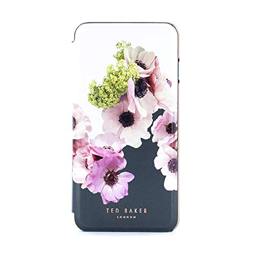 Photo of Ted Baker Franii Mirror Folio Case for iPhone SE (2020) / 8/7 / 6 – Contactless (No Magnet) – Neapolitan – Ivory/Rose Gold