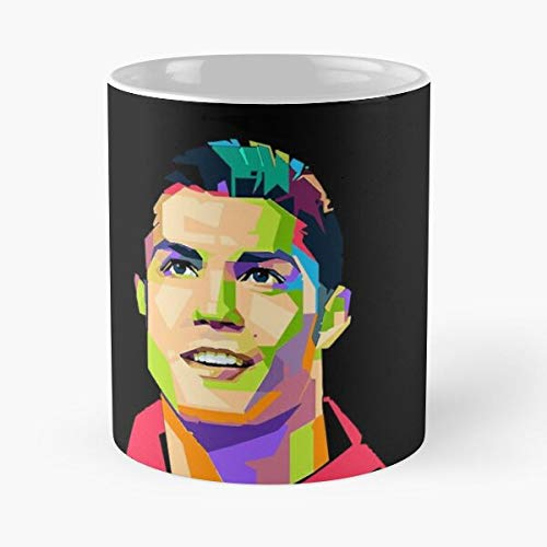 Ronaldo Classic Tasse – 11 oz Coffee – Funny Sophisticated Design Great Gifts White Miinviet