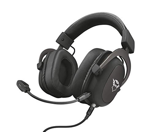 Trust Gaming Headset GXT 414 mit Mikrofon für PS4, PS5, PC, Nintendo Switch, Xbox Series X, Xbox One - Zamak Kabelgebundene Gaming-Kopfhörer mit Einstellbarer Kopfbügel - Schwarz