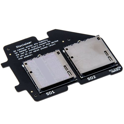 Tarkan iFlash-Dual SD Card Adapter For iPod. Replace your iPod's Hard Drive With Two SDHC or SDXC Storage Cards to Modernize Your iPod 5th Gen (aka. iPod Video) or iPod Classic (aka. 6th Gen, 7th Gen)
