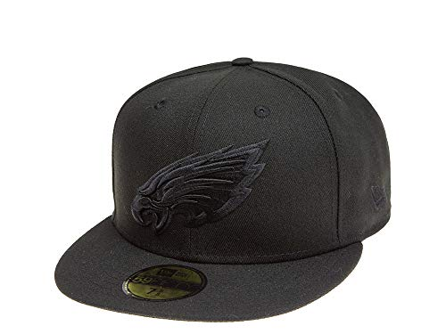 New Era Fitted Cap der Philadelphia Eagles - 59 Fifty - schwarz - NFL Kappe (7 3/8)