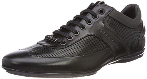 BOSS Sporty Sneaker Leder, Schwarz