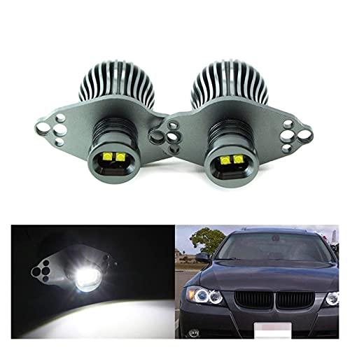WANGXI Wxi Bombillas de Marcador de Ojos Ángel LED 2X para BMW E90 3 Serie 20W Xenon Luz de Alta Potencia de Alta Potencia (Color : Gray)