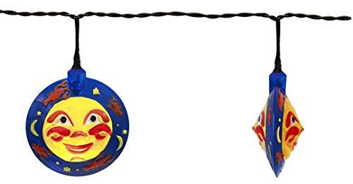 Best Season Party-ketting Moon, 8-delig warmwit LED, maanmotief ca. 3,50 m, kabel, outdoor, transformator, vierkleurig karton, zwart 476-23