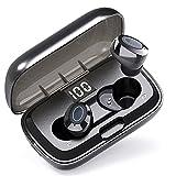Auriculares Inalambricos Deportivos, Auriculares Bluetooth 5.1 con control de botones, HiFi Estéreo Earbuds con Cancelación de Ruido, IPX7 Impermeable, Total 35 Horas de Juego, para Trabajo Viaje