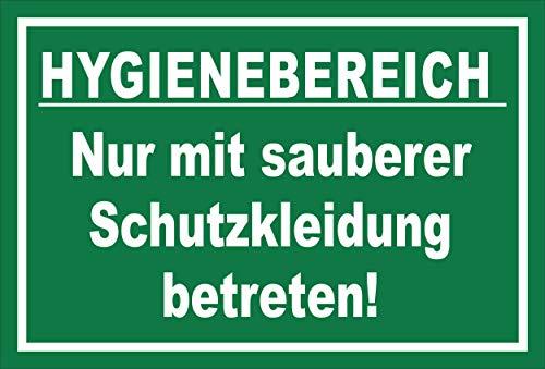 Melis Folienwerkstatt Schild Hygienebereich - 30x20cm - Bohrlöcher - 3mm Hartschaum – 20 VAR S00225-010-G
