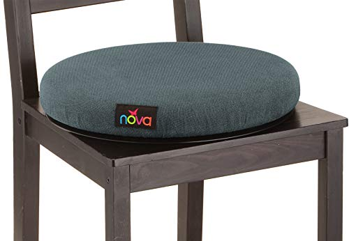 "NOVA Swivel Seat Cushion for Car or Chair, 360 Degree Pivot Disc for Easy Transfer, 2"" Thick Cushion with Removable Cover"