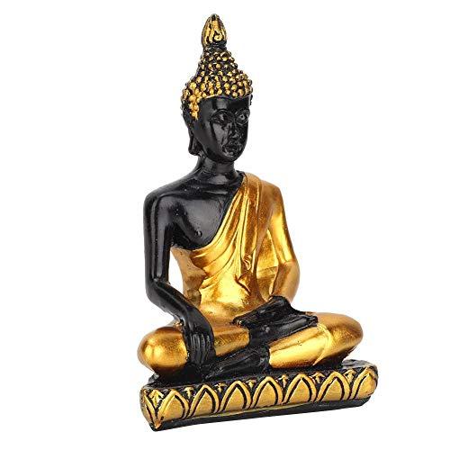 Hztyyier Estatua de Buda Accesorios de Mesa de Arena Populares Sudeste de Asia Estatuilla Decorativa Ornamento Artesanal de Resina(Gold)