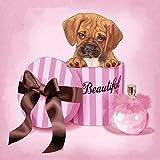 zhulingling store 5d Diamant ölgemälde von digital Painting kit voller diamanten DIY kunsthandwerk geeignet für hauptwanddekoration Hund parfüm 40x40 cm