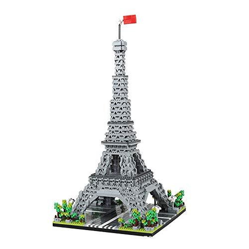 3585 Pezzi Famoso Punto di Riferimento Nanoblock Torre Eiffel Nano Mini Blocchi di Costruzione Kit Costruzione Bambino Regali educativi per Giocattoli Fai da Te