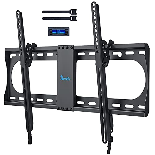 RENTLIV Supporto TV Inclinabile - Supporto da Parete per TV da 37-70 , Max VESA 600x400, Staffa Ultra Resistente 60kg con livella a bolla, Cavo HDMI e Fascette