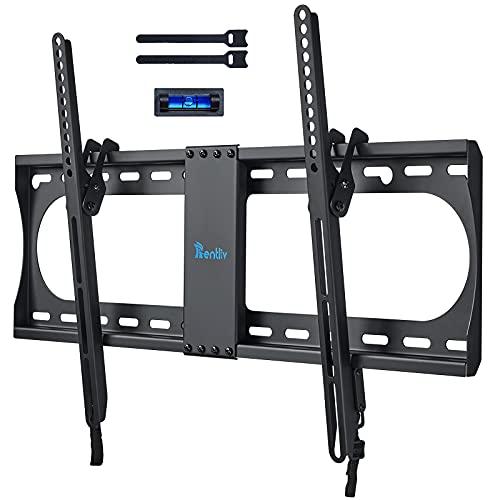 RENTLIV Supporto TV Inclinabile - Supporto da Parete per TV da 37-70', Max VESA 600x400, Staffa Ultra Resistente 60kg con livella a bolla, Cavo HDMI e Fascette