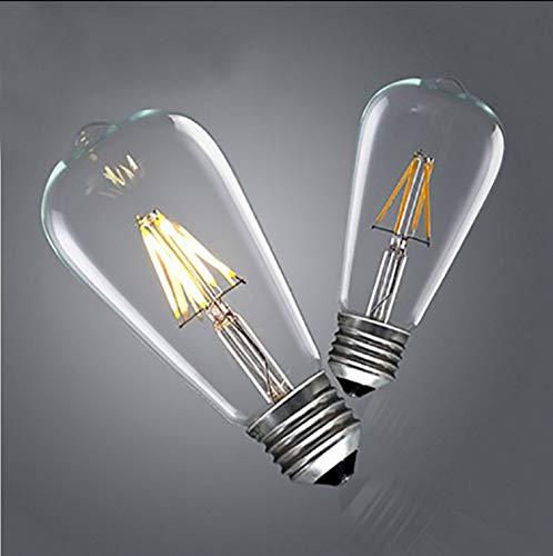 JJZHG wandlamp wandlamp waterdichte wandverlichting bar restaurant kroonluchter wandlamp decoratieve gloeilamp, 2, ST64LED, warm geel bevat: Wandlamp, stoere wandlampen