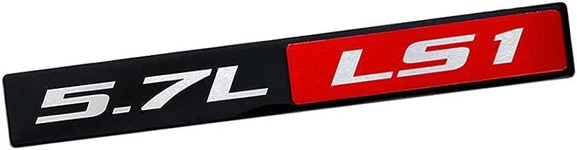 VMS 1 CHEVY 5.7L LS1 ENGINE ALUMINUM EMBLEM RED BLACK