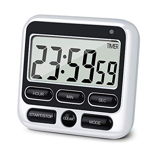 Z-Y Timer keuken Digital Screen kookwekker Groot scherm digitale Timer Plein Koken Count Up Countdown Wekker Sleep Stopwatch Klok