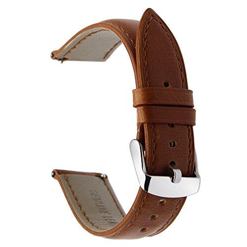 TRUMiRR 22 Millimetri Cintura di Cavallo in Vera Pelle Fascia di Rilascio rapido per Samsung Gear S3 Classic Frontier, ingranaggio 2 Neo Live, Moto 360 2 46mm, ASUS ZenWatch 1 2 Uomini