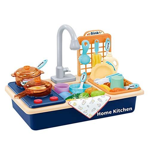 Webla✔ Play Kitchen Toy Sink Elektronischer Geschirrspüler Wasser Pretend Play Kitchen Toys(C)