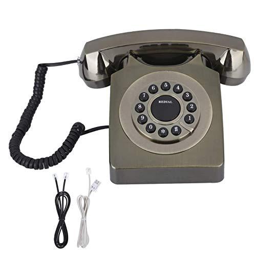 SXRDZ Teléfono Vintage Europeo, Home Europeo VINDAG Teléfono multifunción HH Definición Llamada Botón Borde Grande, Teléfono Retro Antiguo Teléfono Teléfono Home Office (Rojo)